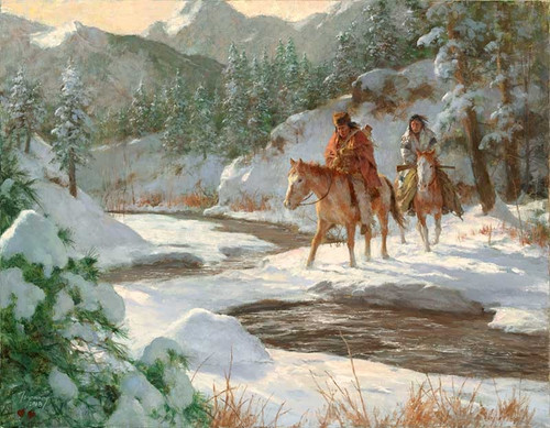 Howard Terpning Cold Makers Bridge Giclée on Canvas