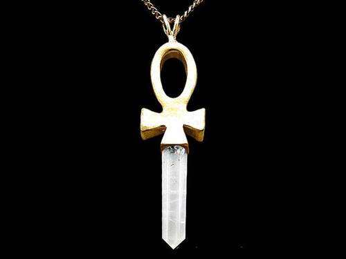 Egyptian Crystal Ankh Necklace