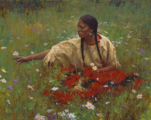 Howard Terpning Beauty in the Field Giclée on Canvas