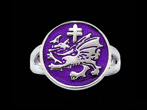 Order of the Dragon Sigil Ring is Sterling Silver