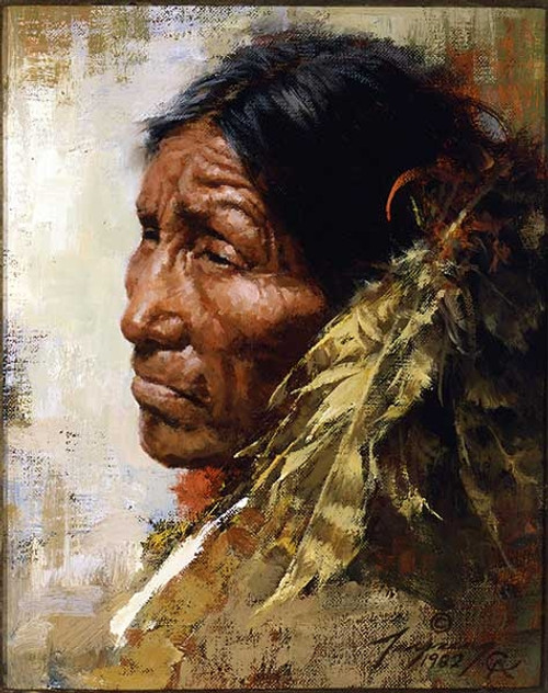 Howard Terpning The Skeptic Giclée on Canvas Portrait Series