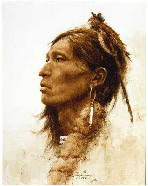 Howard Terpning Kiowa Giclée on Canvas