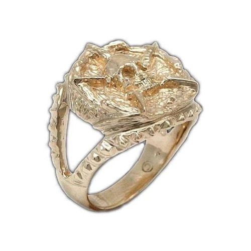Underworld United Signet Ring in 14k Gold