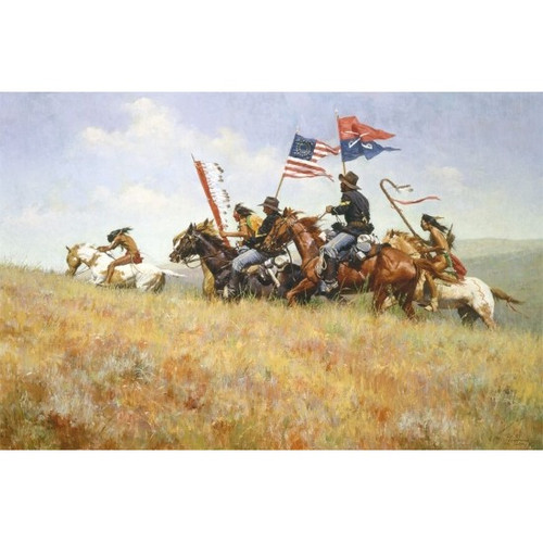 Howard Terpning Flags of the Frontier Giclée on Canvas