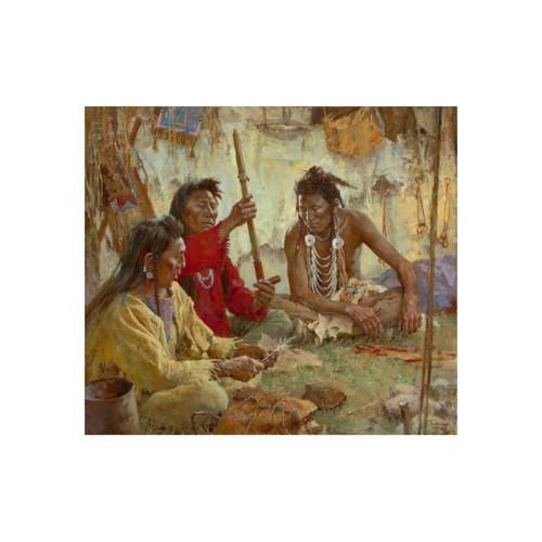 Howard Terpning Seeking Guidance from the Great Spirit Giclée on Canvas