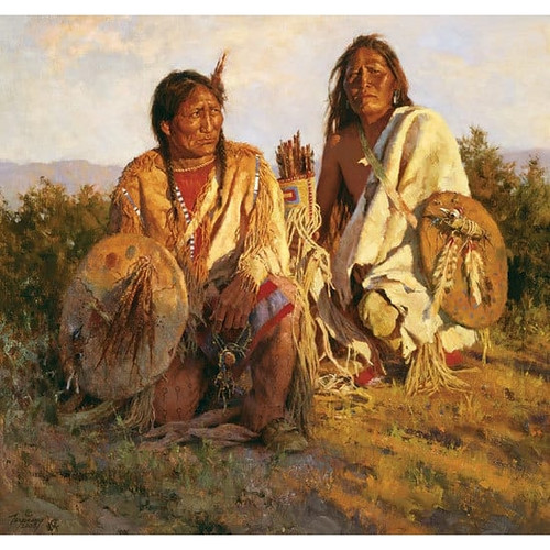 Howard Terpning Medicine Shields of the Blackfoot Giclée on Canvas