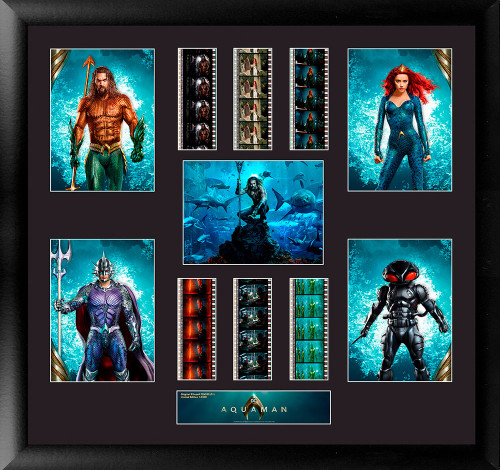 Aquaman Large Framed Film Cell Montage Display