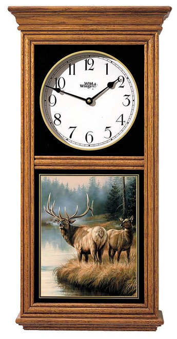 Elk Oak Regulator Clock by Rosemary Millette