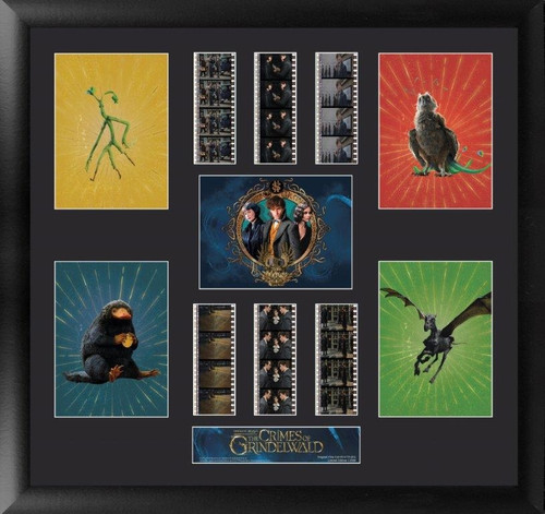 Fantastic Beasts The Crimes of Grindelwald Large Framed Film Cell Montage Display