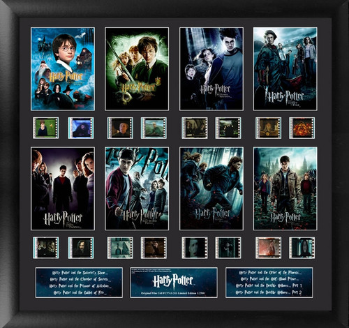 Harry Potter 1 to 7 Large Framed Mixed Film Cell Montage Display S3