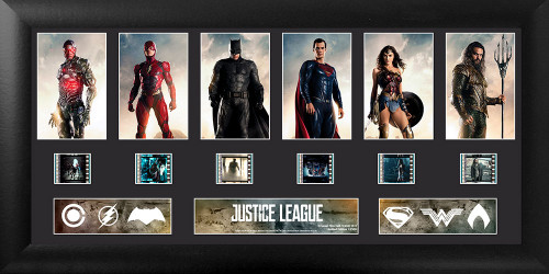 Justice League The League Framed Deluxe Film Cell Display