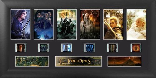 Lord of the Rings Large Deluxe Trilogy Film Cell Display S1