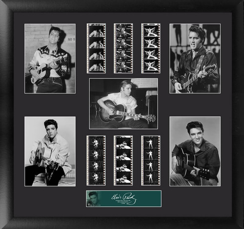 Elvis Presley Large Framed Film Cell Montage Display S5