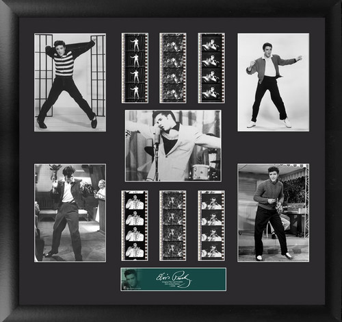 Elvis Presley Large Framed Film Cell Montage Dispay S4