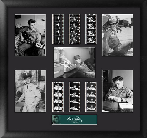Elvis Presley Large Framed Film Cell Montage Display 6