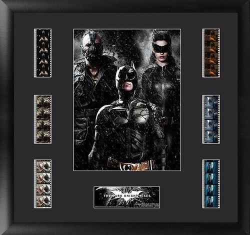 Batman The Dark Knight Rises Large Framed Character Trio Film Cell Montage Display