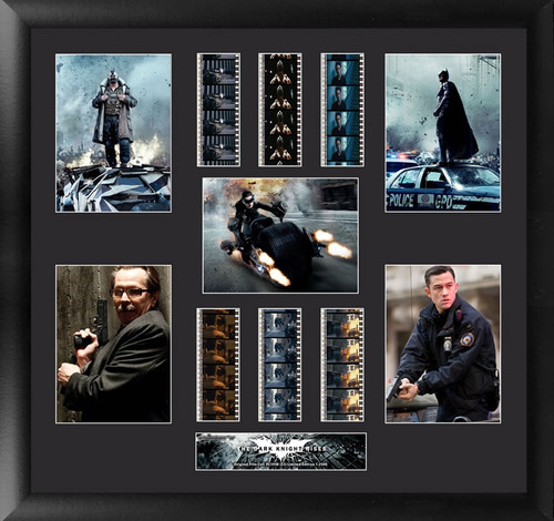 Batman The Dark Knight Rises Large Framed Heroes and Villains Film Cell Montage Display