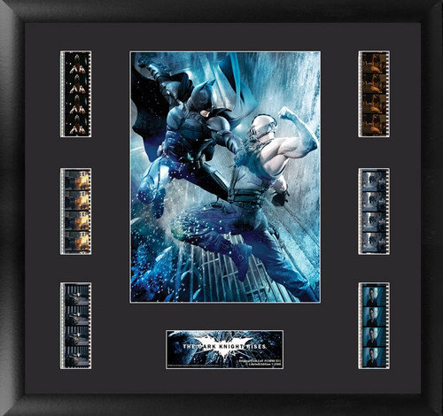 Batman The Dark Knight Rises Large Framed Batman vs Bane Film Cell Montage Display