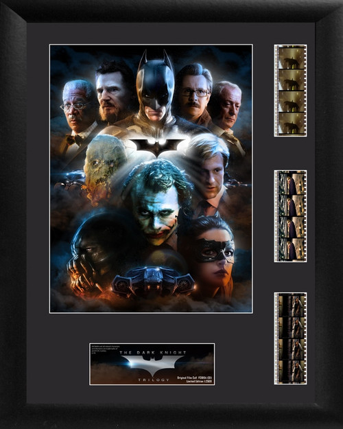 Batman The Dark Knight Trilogy Framed Character Collage Triple Film Cell Display