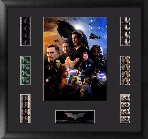 Batman The Dark Knight Trilogy Large Framed Heroes and Villains Film Cell Montage Display