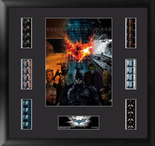 Batman The Dark Knight Trilogy Large Framed Mixed Character Collage Film Cell Montage Display