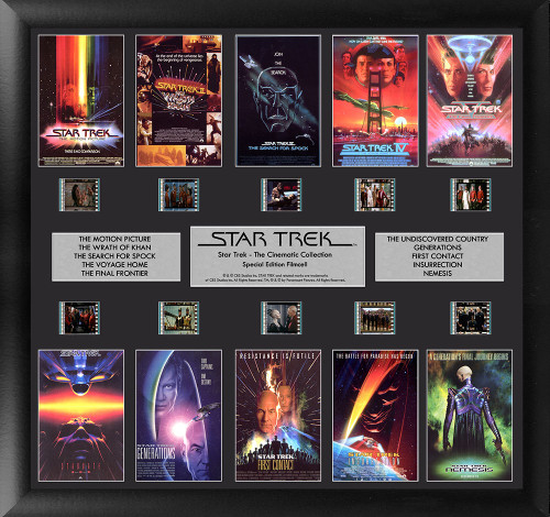 Star Trek The Cinematic Collection Large Framed Film Cell Montage Display