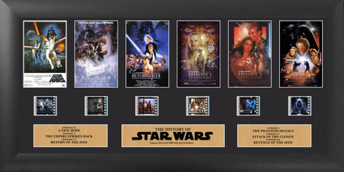 Star Wars Through the Ages Deluxe Film Cell Display