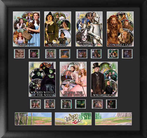 The Wizard of Oz Large Framed Character Film Cell Montage Display