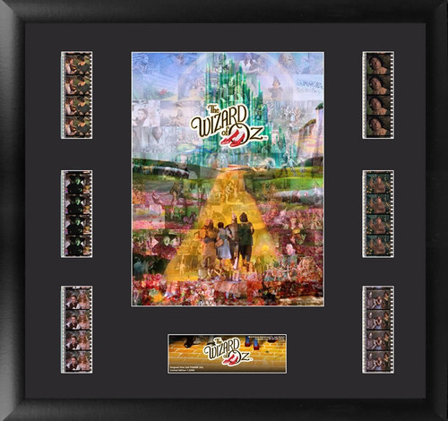 The Wizard of Oz Large Framed The Yellow Brick Road Montage Film Cell Display