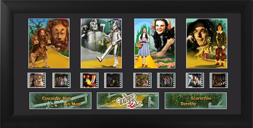 The Wizard of Oz Framed Quad Film Cell Display