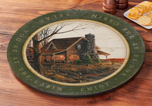 Comforts of Home Cabin Lazy Susan Turntable by Terry Redlin