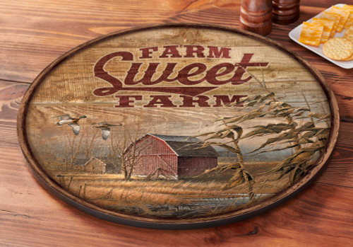 Farm Sweet Farm Lazy Susan Turntable by Terry Redlin