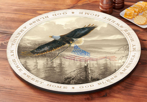 Rebuilding America - Eagle Lazy Susan Turntable by Persis Clayton Weirs