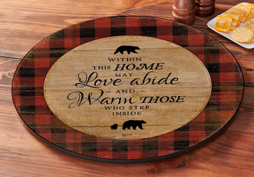 Bear - Within This Home Lazy Susan Turntable by Rosemary Millette