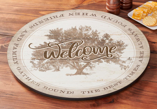 Welcome Tree Lazy Susan Turntable by Peter Mathios