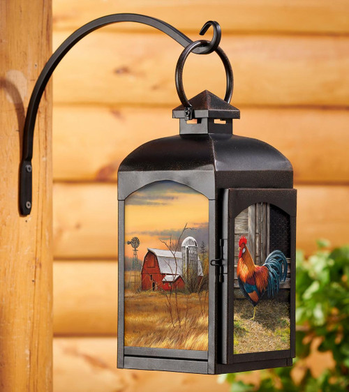 Elk Autumn Song Candle Lantern With Artwork By Rosemary Millette Davinci Emporium