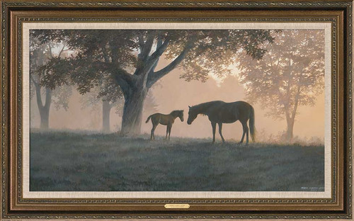 Framed Dawns First Light - Horses Limited Edition Canvas