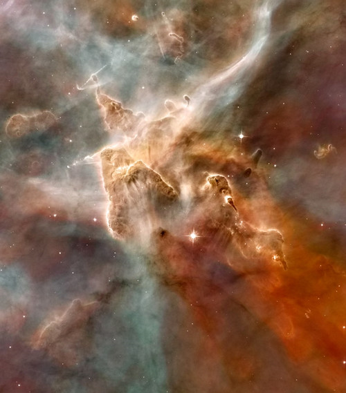 Star-Forming Region Carina Nebula Museum Wrapped Gicléeon Canvas