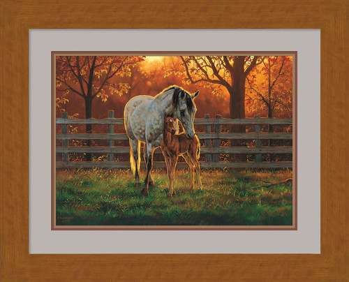 Quiet Time Horses Framed Artist Proof Print