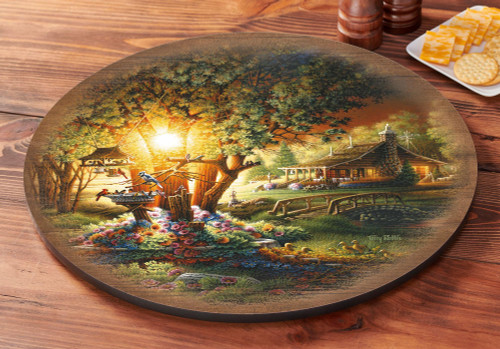 The Colours of Spring Lazy Susan Turntable with artwork by Terry Redlin