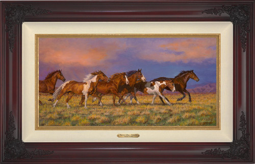 Unbroken - Horses Master Artisan Canvas with brandy frame