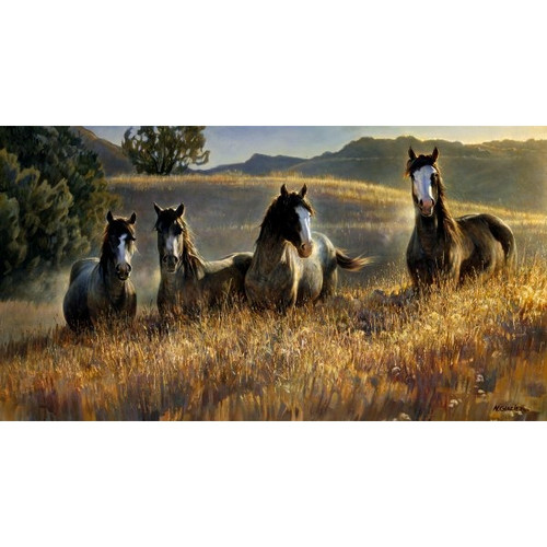 Amazing Gray's III Limited Edition Giclée on Canvas by Nancy Glazier