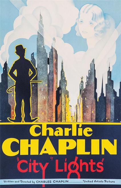 Charlie Chaplin City Lights 1931 Fine Art Movie Poster Lithograph