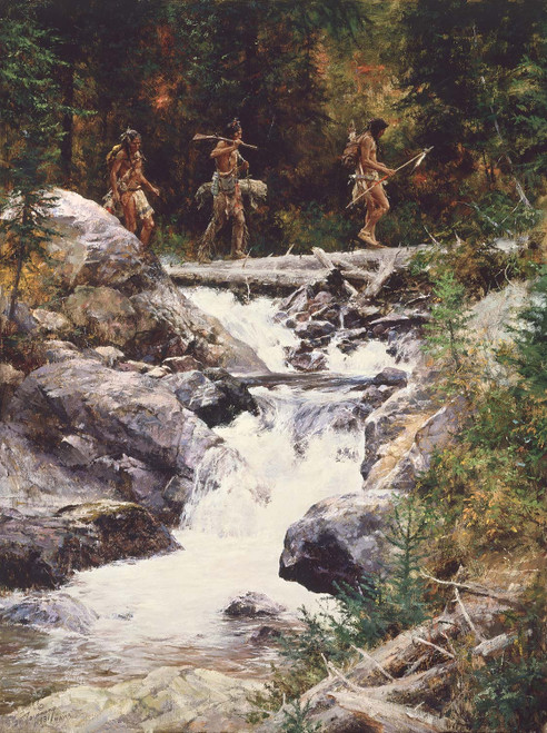 Foot Soldiers Giclee on Canvas by Howard Terpning