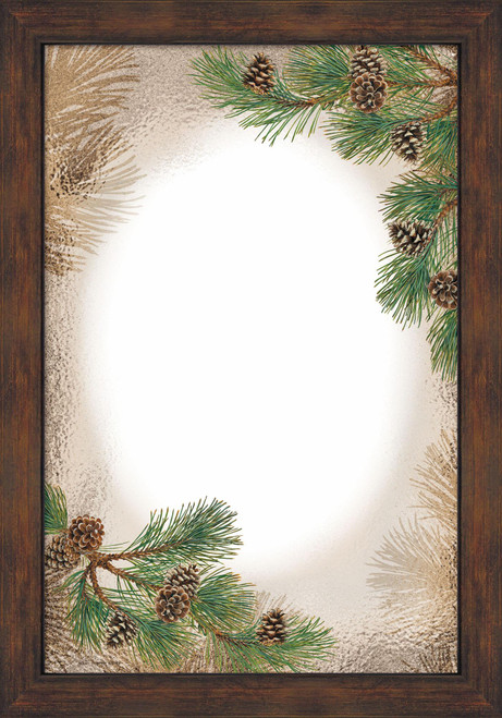 Pinecones Large Decorative Mirror by Persis Clayton Weirs