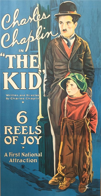 Charlie Chaplin in the Kid 3-Sheet Fine Art Movie Poster Lithograph