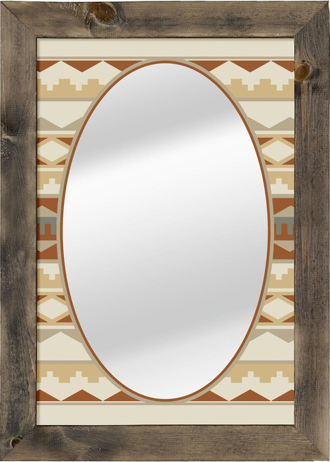 Navajo Tribal 1 Large Decorative Mirror