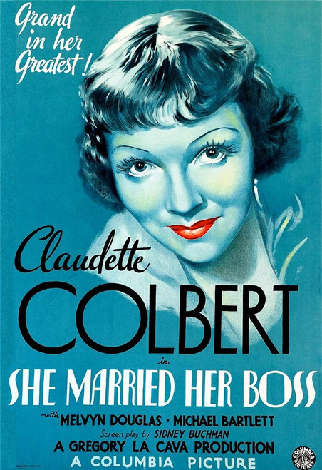 She Married Her Boss 1935 Fine Art Movie Poster Lithograph