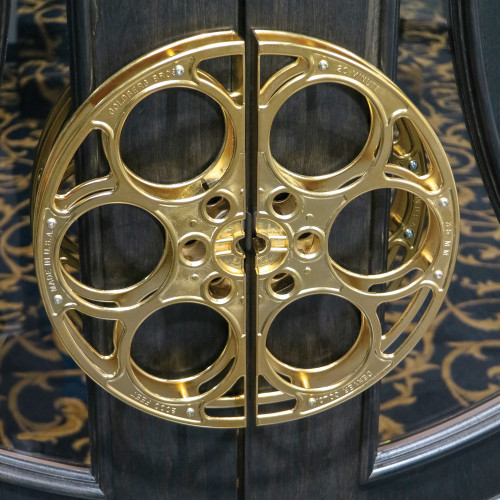 24k Gold-Plated Film Reel Door Pull Handles