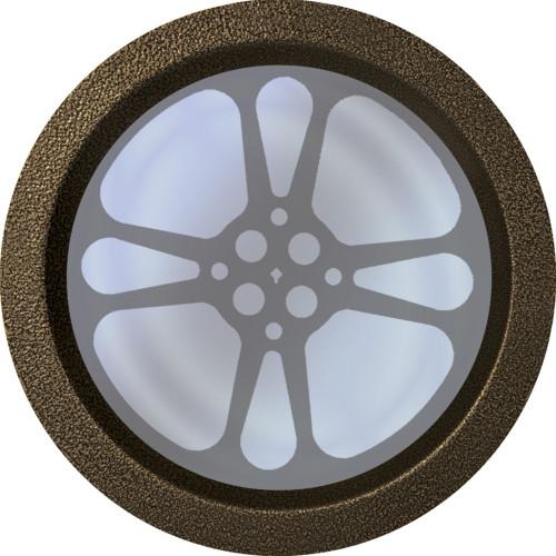 Gold-Vein 12 inch Teardrop Film Reel Door Port